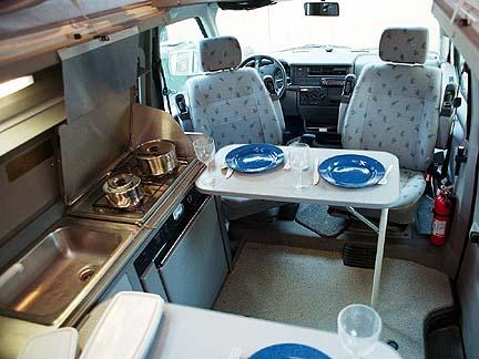Tour Stop 0 Van Kitchen